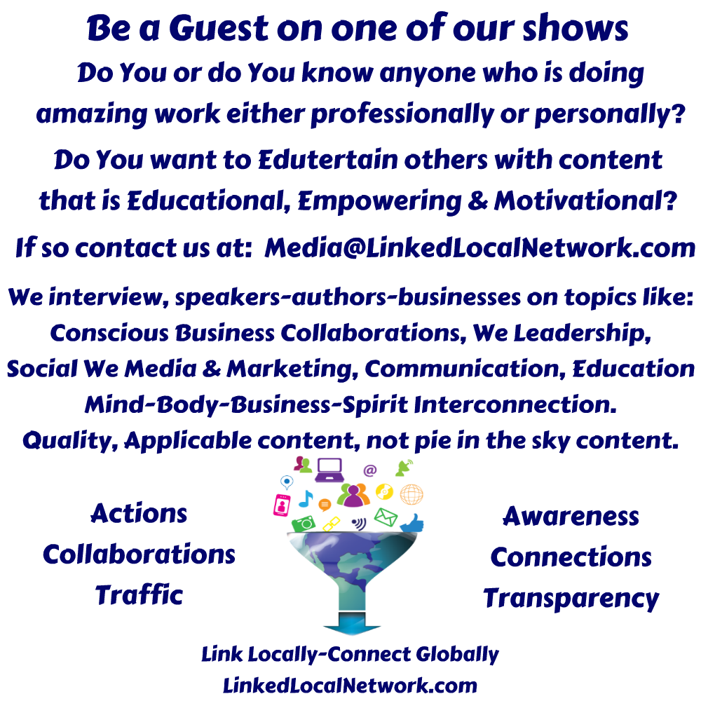Be A Guest On One of our Shows
