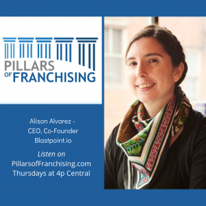 Pillars of Franchising - Alison Alvarez - Blastpoint.io - data tools