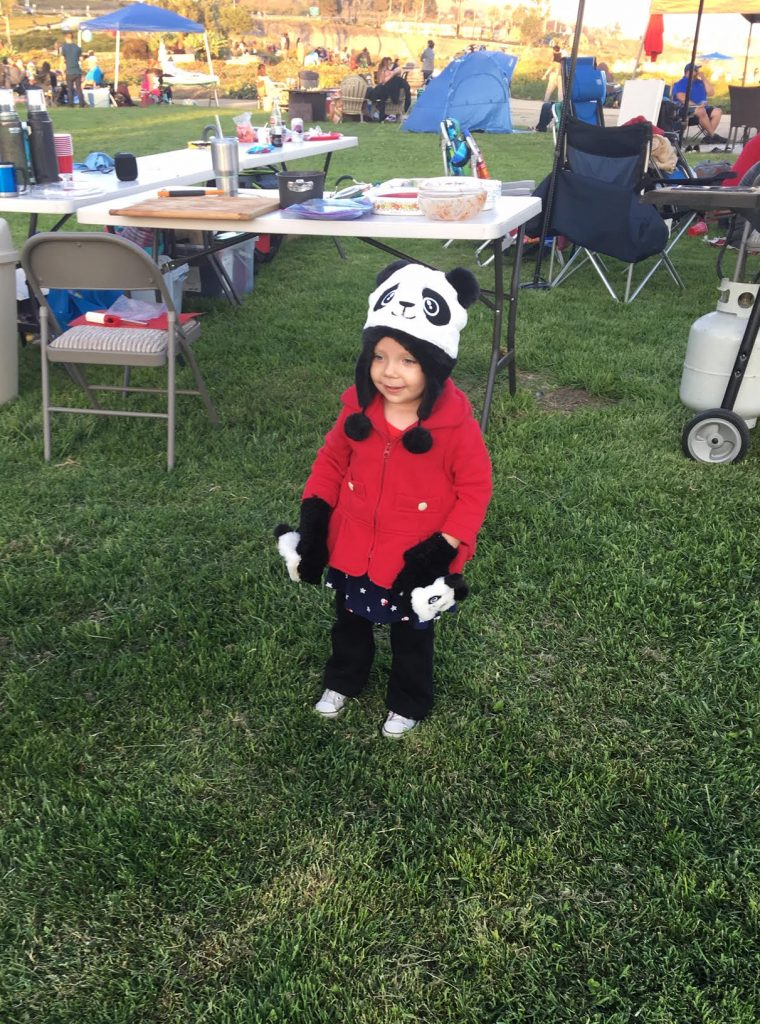 Anaya in Panda hat