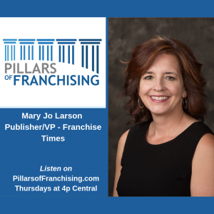 Talking with Mary Jo Larson of the Publisher of Franchise Times.