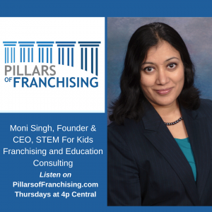 STEM for Kids, The Moni Singh story on the Pillars of Franchising show