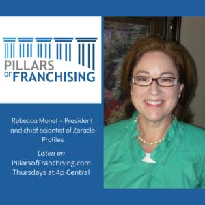 Pillars of Franchising - Rebecca Monet - profiling franchisee success - Zorakle Profiles