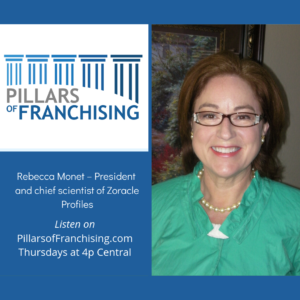 Pillars of Franchising - Rebecca Monet - profiling franchisee success - Zorakle Profiles