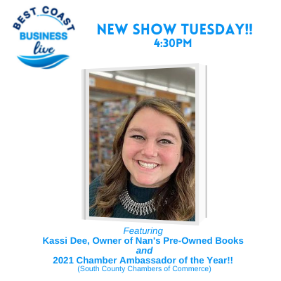 Best Coast Business Live with  Kassi Dee, Owner of Nan's Pre-Owned Books